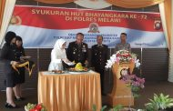 POLRES MELAWI GELAR UPACARA DAN SYUKURAN, DALAM RANGKA HUT BHAYANGKARA KE – 72