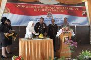 POLRES MELAWI GELAR UPACARA DAN SYUKURAN, DALAM RANGKA HUT BHAYANGKARA KE - 72