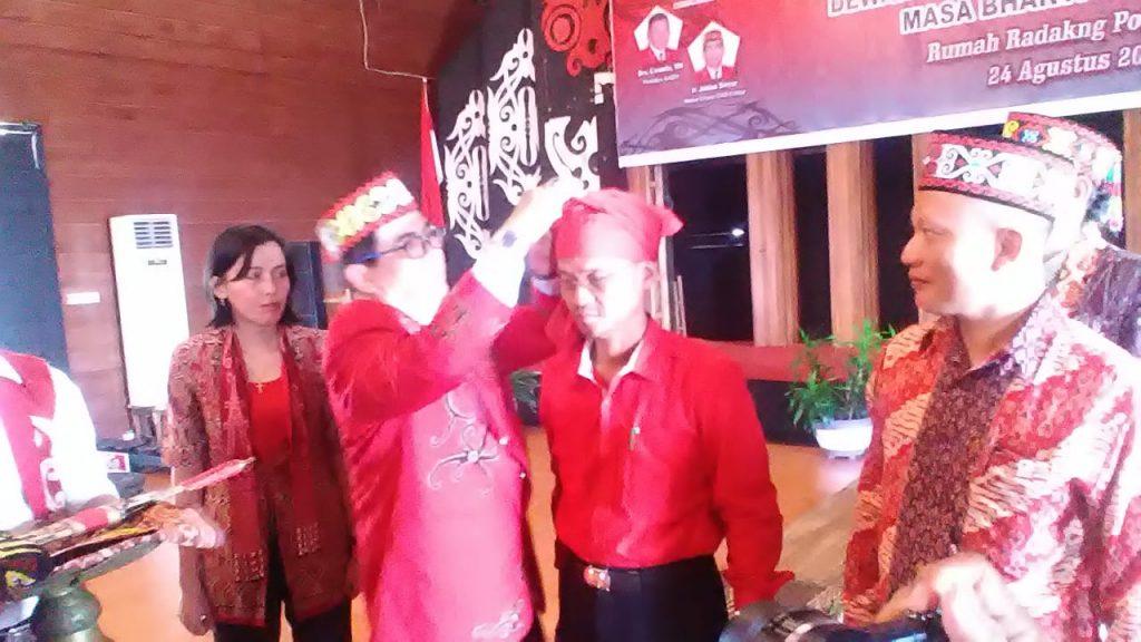 Jakius Sinyor, Lantik Pengurus DAD Kota Pontianak Periode 2019-2024