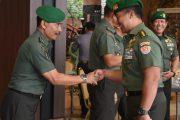 Kasad Terima Laporan Korps Kenaikan Pangkat Irjen Kemhan dan 9 Pati TNI AD