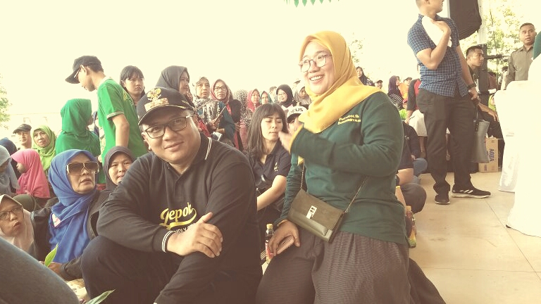 Idris Pradi Resmikan Alun-Alun Kota Depok