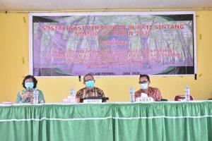 Pemkab Sintang Sosialisasikan Aturan Buka-Bakar Ladang Di Kecamatan Kelam Permai