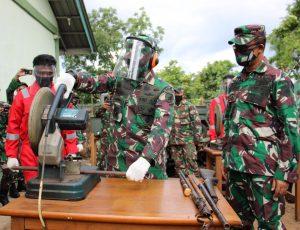 Pangdam XII/Tpr Pimpin Disposal 1.196 Pucuk Senjata Non Organik Hasil Operasi