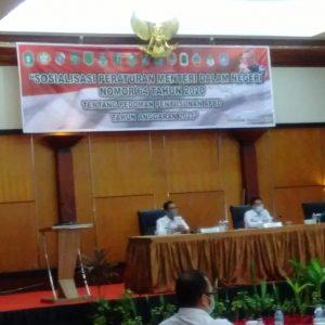 BKAD PROV Kalbar Selenggarakan Sosialisasi Permendagri No.64 THN 2020