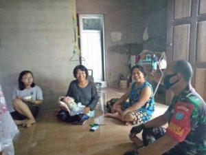 Semangat Ibu-ibu Siap Mensukseskan TMMD 109 Kodim 1205 Sintang