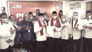 Idris-IBH Resmi Daftar Ke KPUD Depok