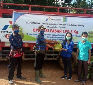 Maria:OP Gas Elpiji 3 kg di Desa Merti Jaya Kec Tempunak