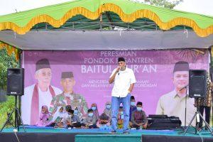 Jarot Resmikan Ponpes Baitul Qur'an di Marti Guna