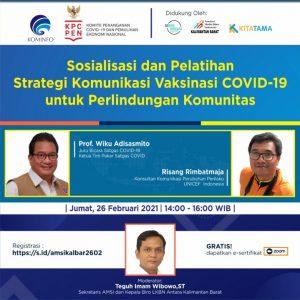 Pelatihan Strategi Komunikasi Vaksinasi Covid-19 untuk Perlindungan KomunitasSiap digelar di Kalbar