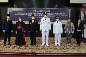 Dilantik Gubernur Kalbar, Jarot-Sudiyanto Resmi Pimpin Sintang 5 Tahun Ke Depan